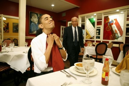 OBAMA EATS, SOLDIERS, WEEP